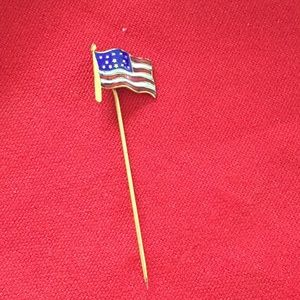 Other - Enamel American flag tie pin vintage